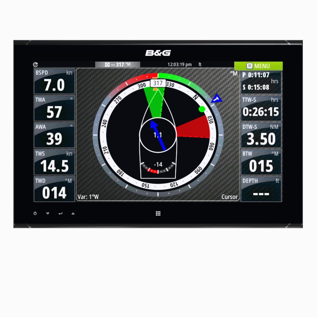Il monitor del nuovo sistema di navigazione Zeus2 Glass Helm di B&G, studiato principalmente per blue water cruiser e maxi yacht