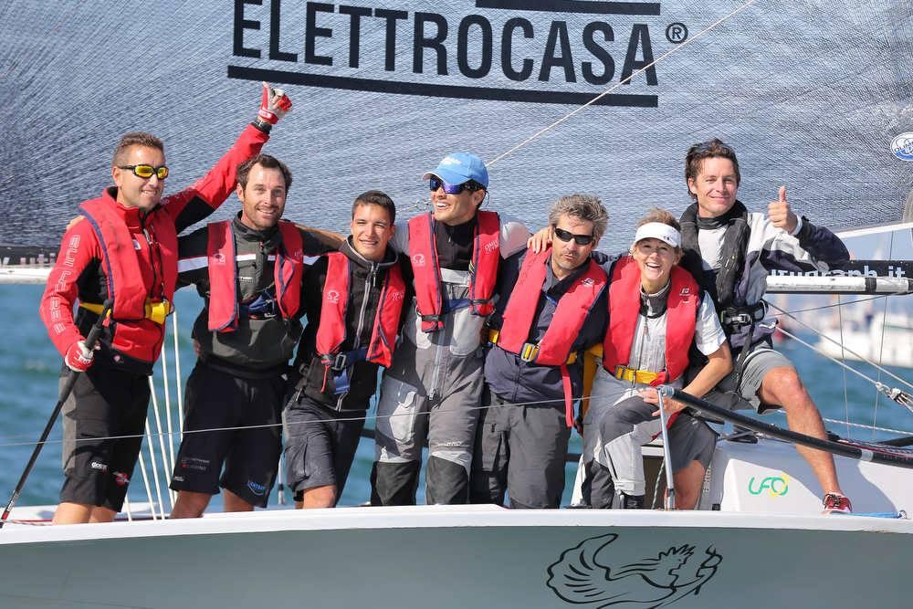 L'equipaggio vincitore