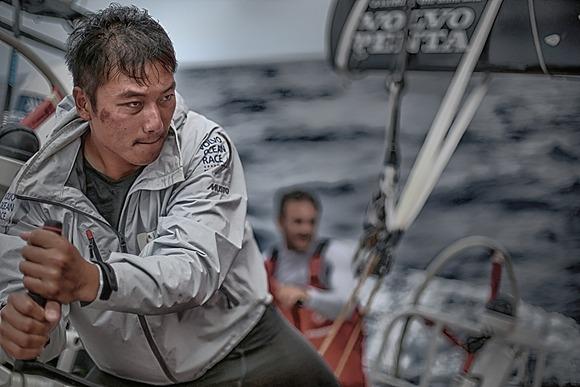 Determinazione a bordo di Dongfeng. Foto Riou