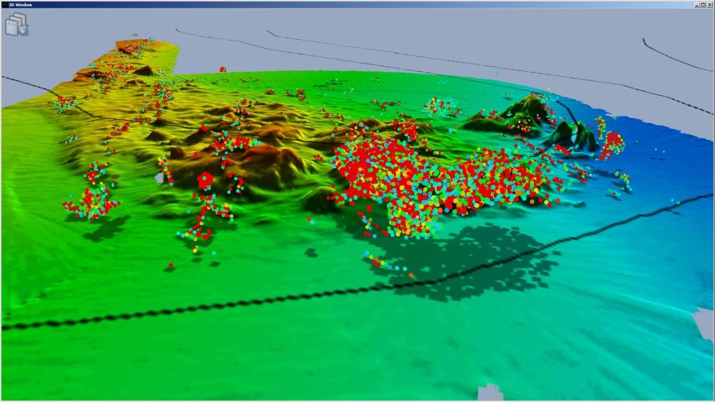 La visualizzazione in 3D del fishfinder WAASP
