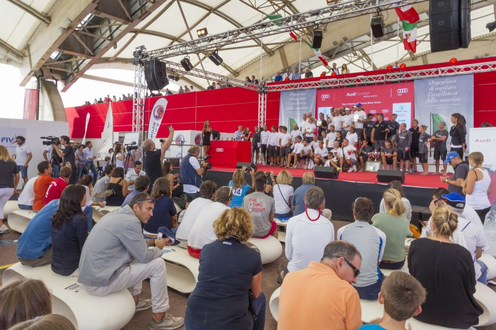 La premiazione al Teatro del Mare delle Audi Sailing Series