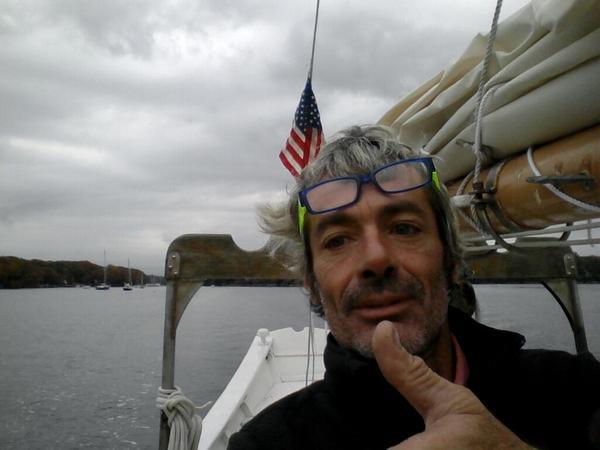 Vittorio Malingri sulla sua nuova (si fa per dire) barca
