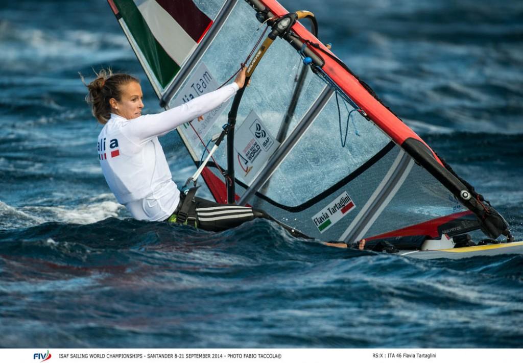 Flavia Tartaglini in RS:X. Foto Taccola/FIV