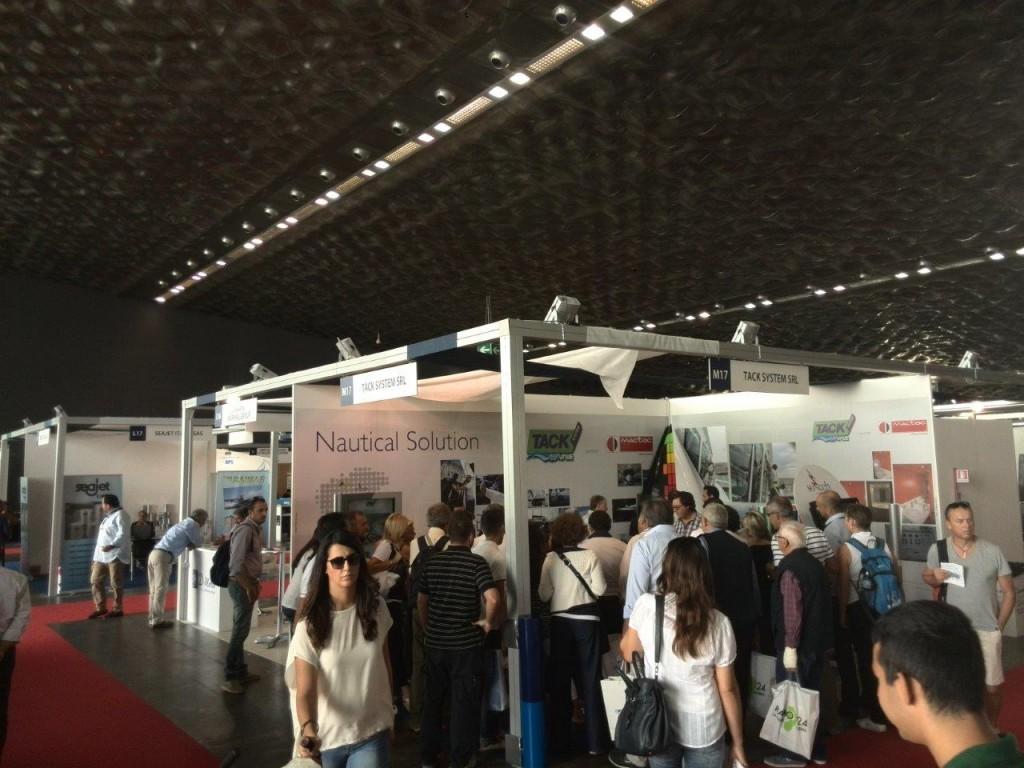 Lo stand della Tack System allo scorso Salone Nautico di Genova
