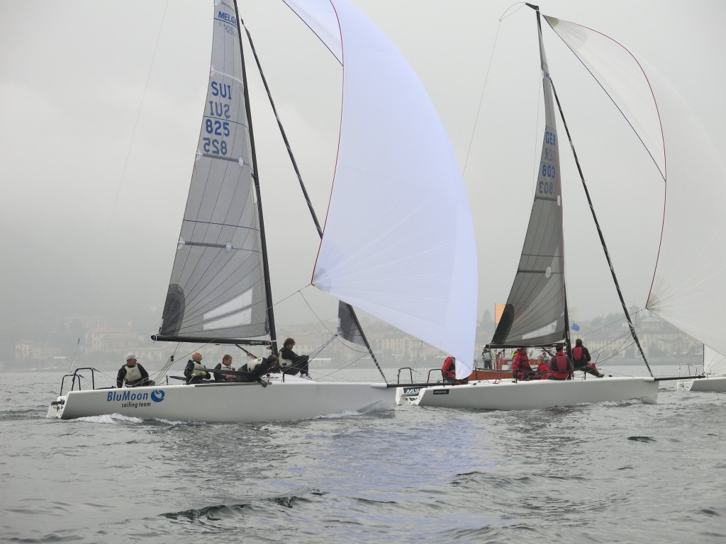 Blu Moon in regata a Luino. Foto AVAL