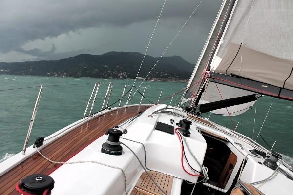 Il Dehler 46 in navigazione durante il nostro test. Foto Giuffrè