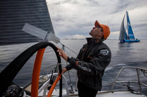 Alberto Bolzan al timone di Team Alvimedica. Foto Ross