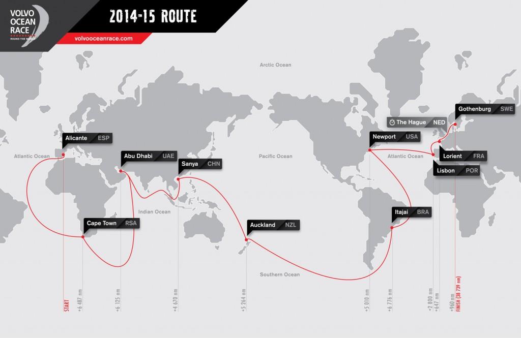 La rotta della Volvo Ocean Race