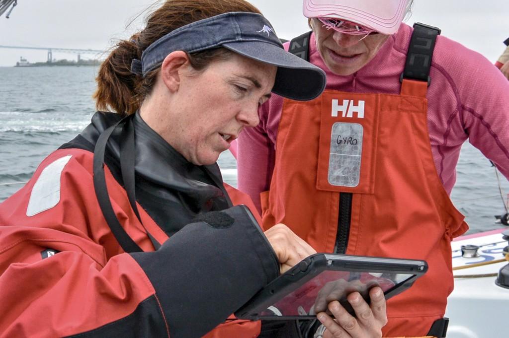 Libby Greenhalgh, navigatrice a bordo di Team SCA. Foto Halloran