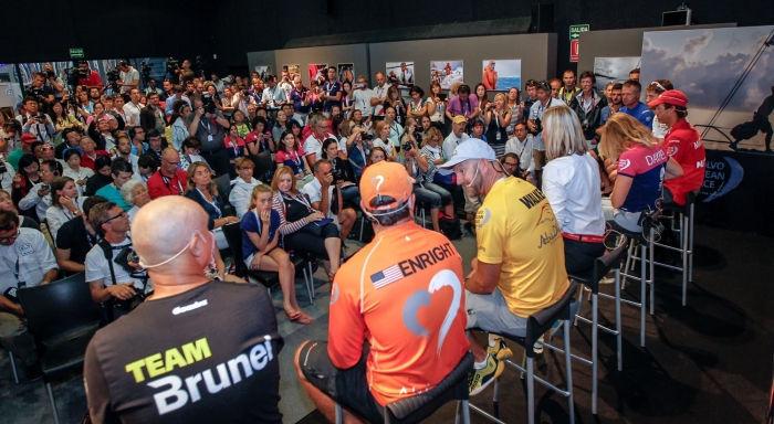 Molti i media internazionali presenti alla conferenza stampa degli skipper di oggi