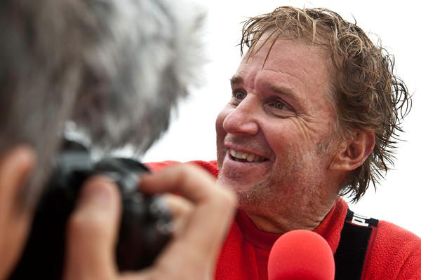 Ken Read durante la VOR 2011-2012, in cui era skippeer di Puma Ocean Racing powered by BERG, terzo classificato finale. Foto Roman/VOR