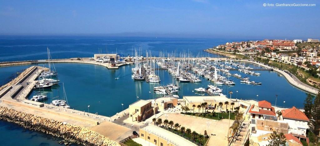 Vista aerea del Porto Marina di Ragusa