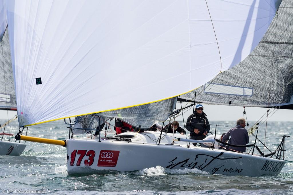 Il Melges 32 Spirit of Nerina in regata alel Audi tron Sailing Series di Napoli ®BPSE/Zerogradinord