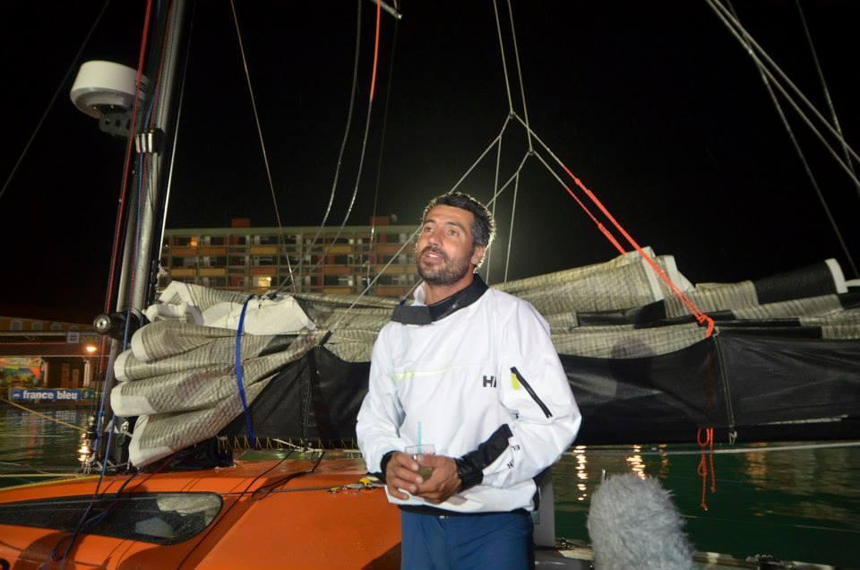 Giancarlo Pedote all'arrivo in Guadalupa