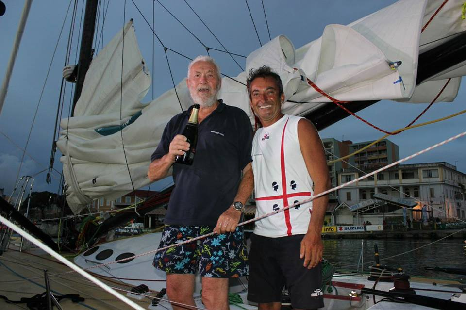Andrea Mura in Guadalupa con Robin Knox-Johnston