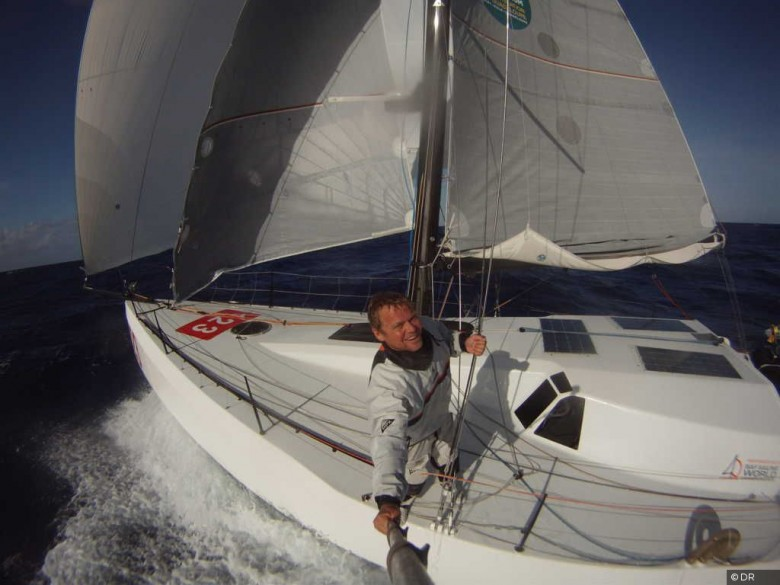 Selfie time per Alex Pella, leader tra i Class 40