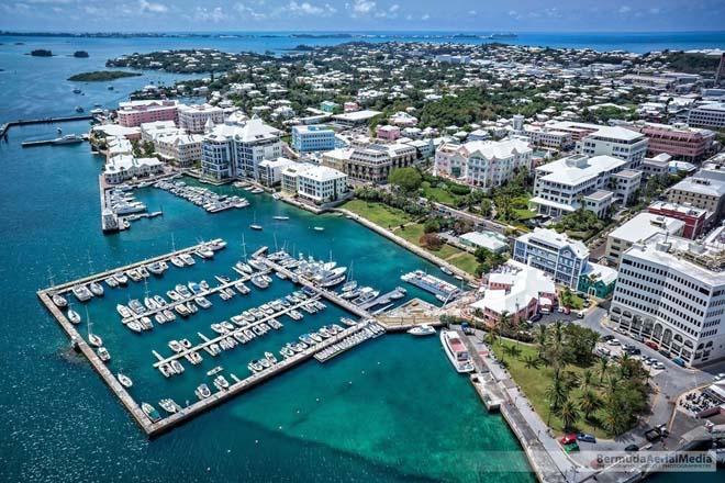 Vista di Hamilton, capitale delle Bermuda. Foto Bermuda Tourism