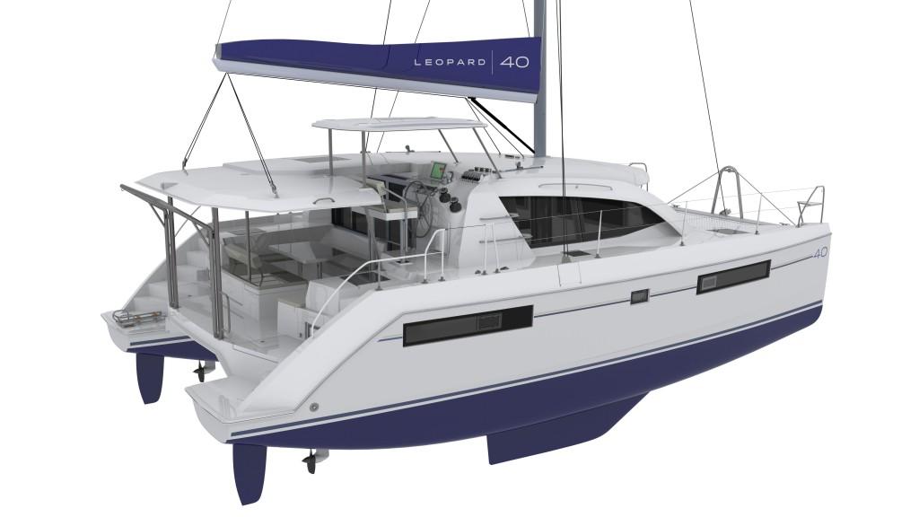 L'ampia lounge area è seprata dalla zona manovre: lo skipper può condurre il catamarano senza disturbare o essere disturbato