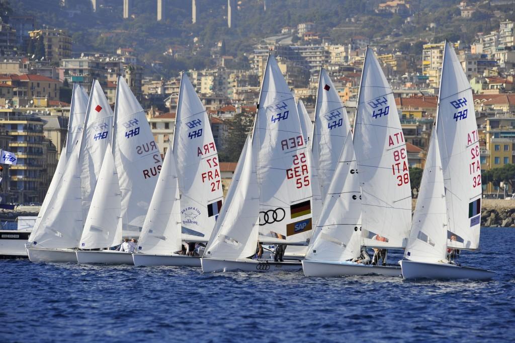 470 in regata a Sanremo