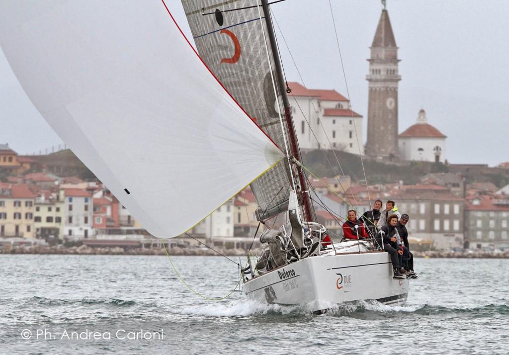 Duferco in regata a Pirano. Foto Carloni