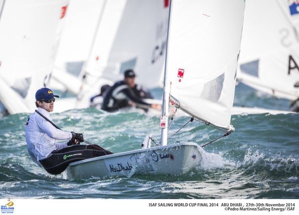 Francesco Marrai in regata ad Abu Dhabi. Foto Jesus Renedo/Sailing Energy/ISAF