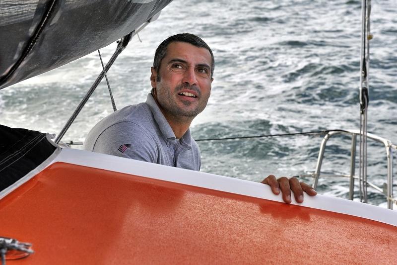Giancarlo Pedote a bordo di Fantastica