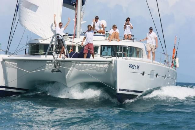 All'edizione 2014 dell'ARC torna numerosa la flotta dei catamarani: 37 in tutto. Nella foto Free to Be (Lagoon 500, Joe Heunes, South Africa) Credit: Tim Wright - photoaction.com © World Cruising Club 2008