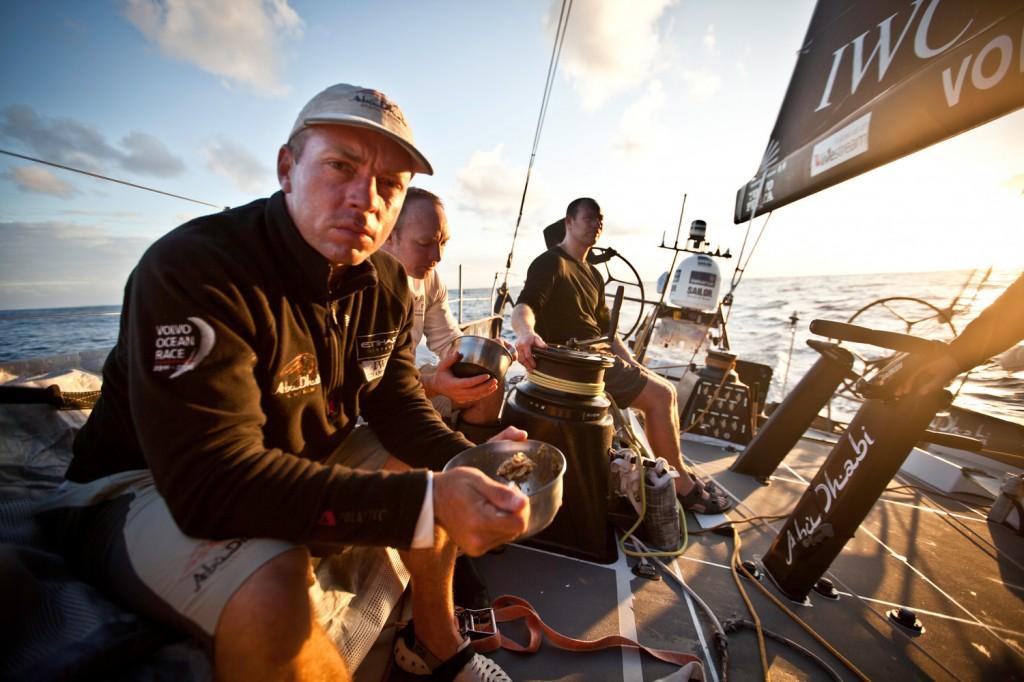 Rob Greenhalgh su Abu Dhabi nella scorsa edizione della Volvo Ocean Race. Foto Dana