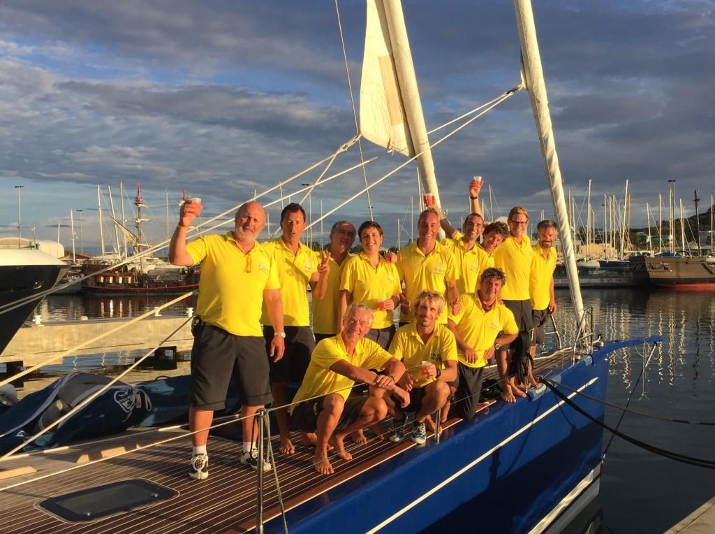 L'equipaggio di Berenice by TWT all'arrivo