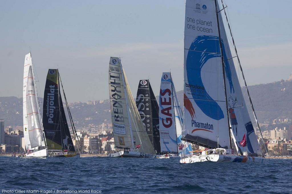 La partenza, con Gaes e One Ocean OCS. Foto Martin Raget/BWR