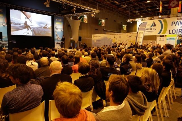 Un momento della presentazione della nuova edizione del Tour e France à la Voile 2015 in programma a luglio
