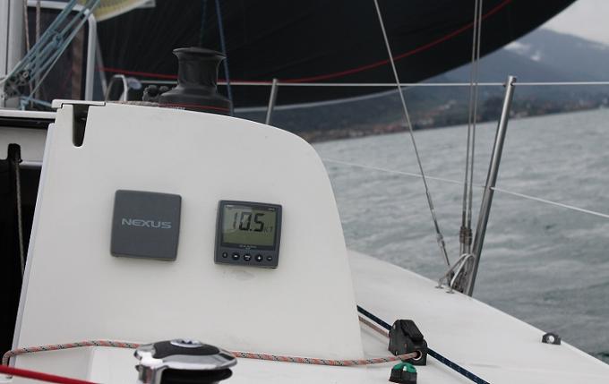 La punta di velocità toccata al lasco con 14 di vento