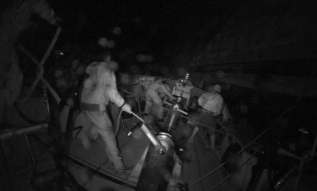 Il momento dell'impatto sul reef, a 19 nodi di notte