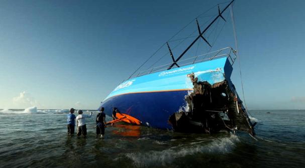 Gli enormi dannio alla poppa. Il fatto di essere riusciti a rimuovere la barca intera dal reef, potrebbe far ipotizzare una sua ricostruzione? Il team è sembrato cauto ma aperto a ogni ipotesi