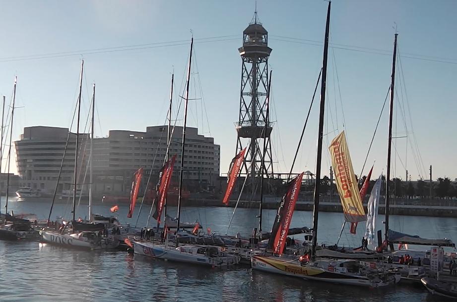 La flotta alle 9 di oggi nel Port Vell di Barcellona