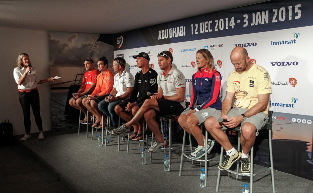 La conferenza stampa degli skipper oggi ad Abu Dhabi