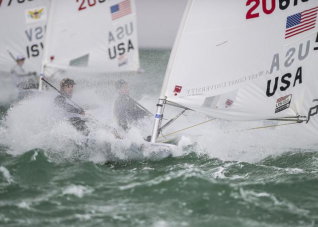 L'americano Charlie Buckingham in Laser. Foto US Sailing