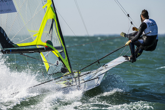 Plazzi-Molineris in 49er. Foto US Sailing