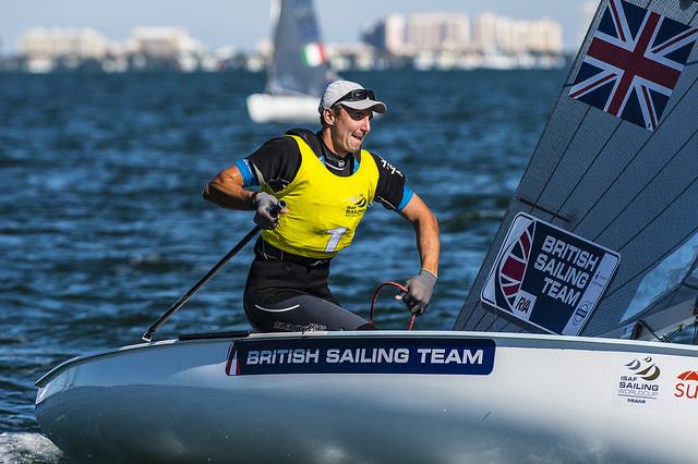 L'inglese Giles Scott, primo nei Finn. Foto Us Sailing