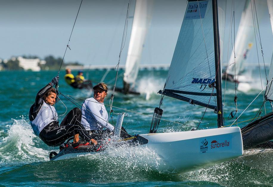 Bressani-Micol in Nacra oggi a Miami. Foto US Sailing