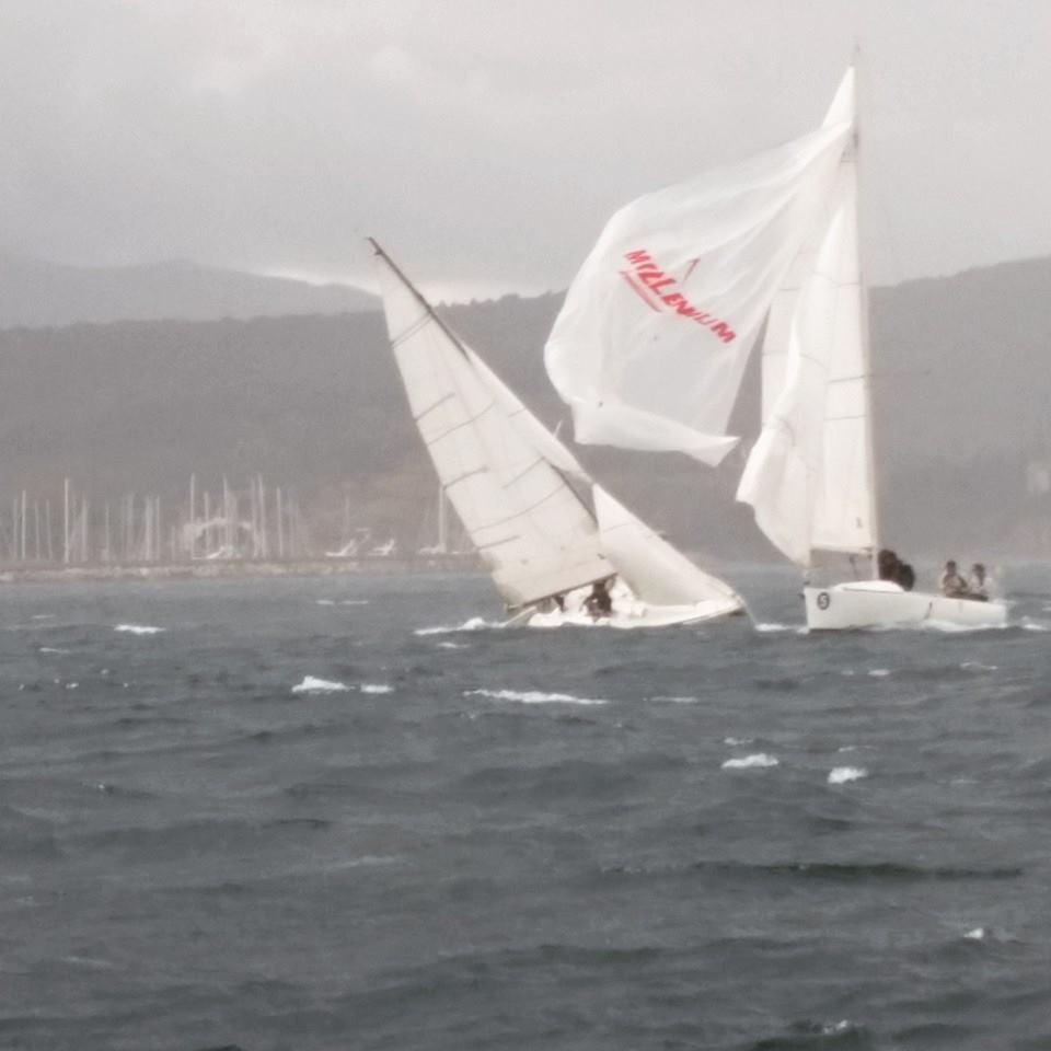 Condizioni difficili per il February Match Race a Scarlino. Foto Tosi