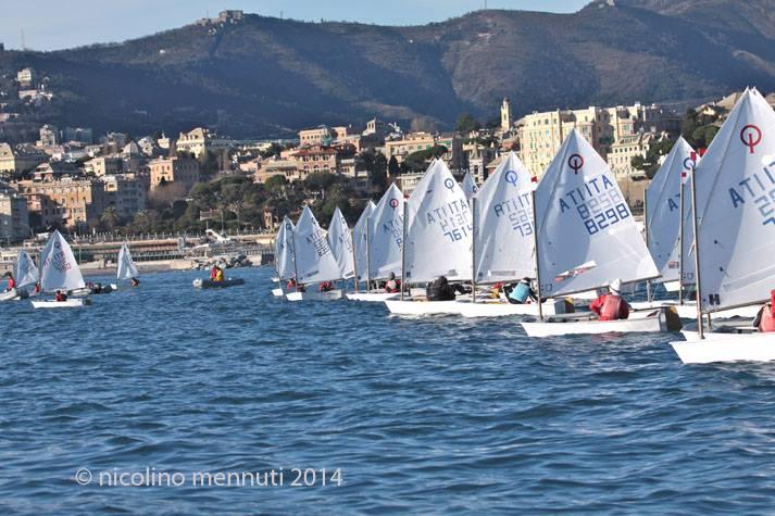 Optimist a Genova. Foto Mennuti
