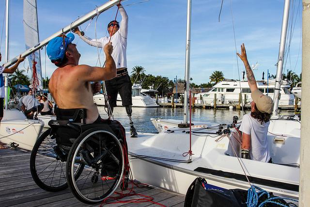 Atleti paralimpici a Miami per la recente tappa dela World Cup ISAF