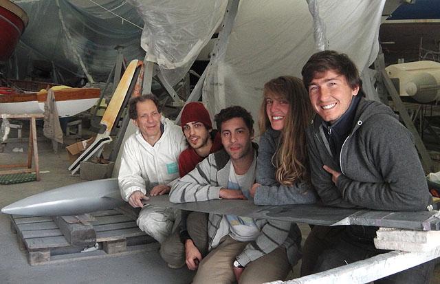Alberto Bona con il team di Skyronlab: da sinistra,
