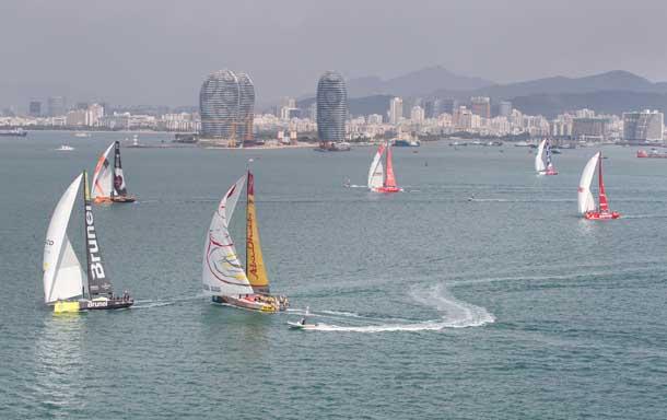 Un momento della Inport Race di Sanya. Foto Sanchez