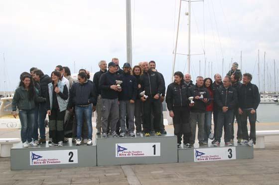 Un momento della premiazione a Riva di Traiano. Foto CNRT