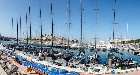 La flotta degli RC44 a Malta. Foto Studio Martinez