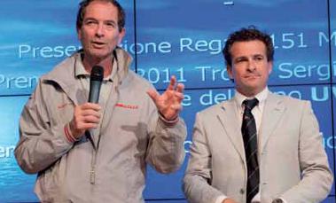 Alessandro Masini, presidente dello YCPA, e Roberto Lacorte, presidente dello YC Repubblica Marinara di Pisa. Foto Taccola