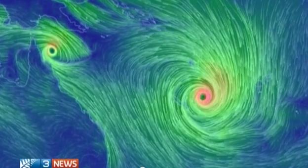 La posizione del Ciclone Pam nella giornata di ieri
