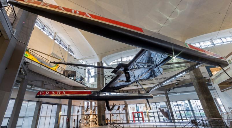 Luna Rossa AC72 al Museo della Scienza di Milano. Foto Borlenghi